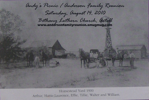 Anderson Familiy Reunion invites