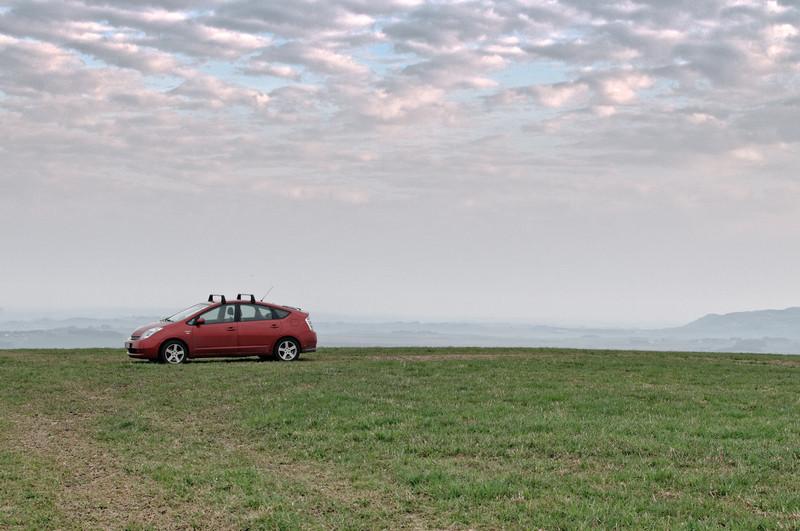 Sehr früh an einem Sonntag fuhr Bernd nach Südjæren, um dort den Windpark anzuschauen.
