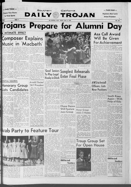 Daily Trojan, Vol. 47, No. 127, May 04, 1956