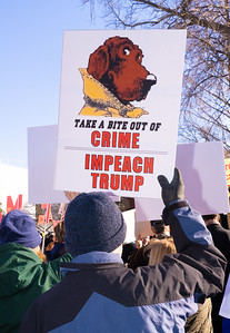 Protestors Gather at Capitol on Morning of Impeachment Vote (12/18/19)
