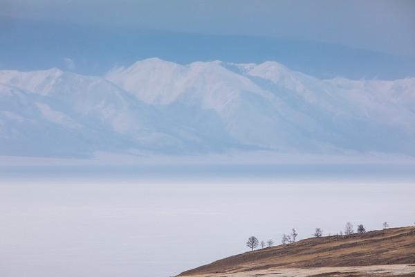 Ice caves on the Baikal Lake