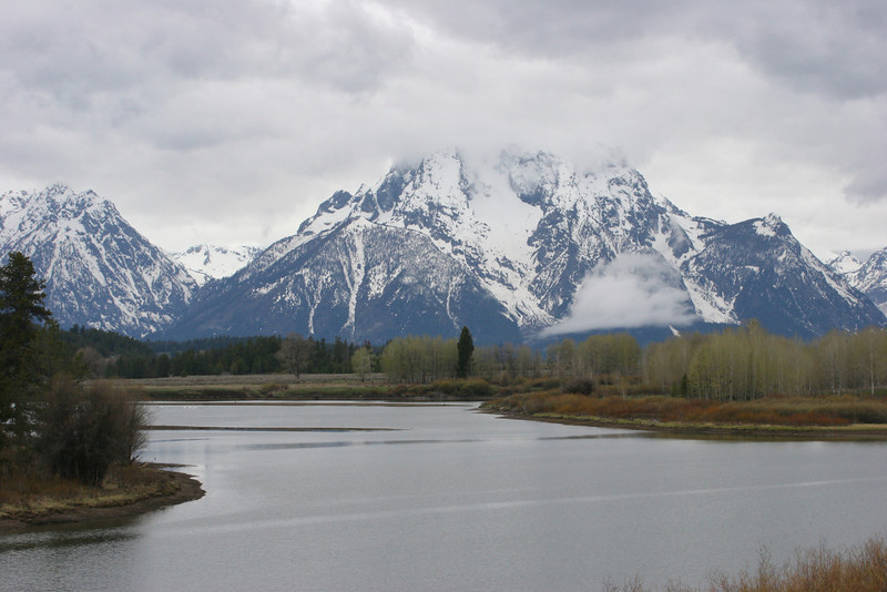 Oxbow Bend of the Snake River - Grand Tetons in back