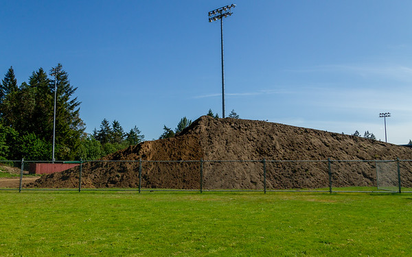 The New Vashon Island High School Track and Field: During Construction April-September 2018