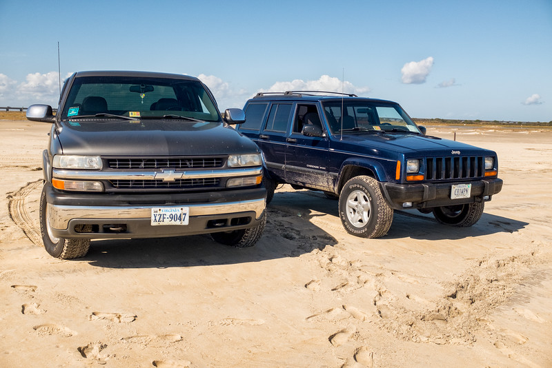 Chevy and Jeep on the Beach.jpg