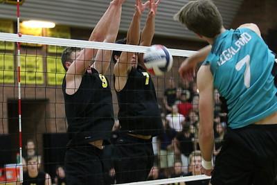 2017 Gilbert Boys Volleyball vs Highland 4-11-17