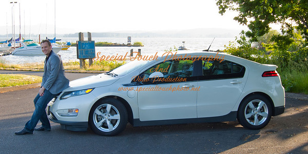 William McGlasson with his Chevy Volt