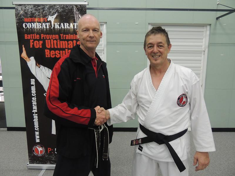 Joe with Shihan Martin Day Combat Karate Noosa