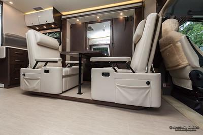 Recreational vehicle interior.