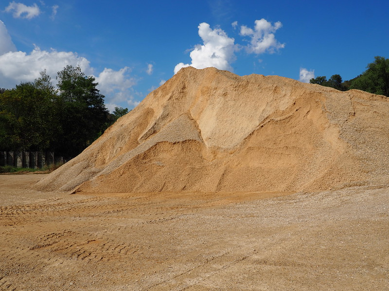 Gravel pile at Clayton Town Hall