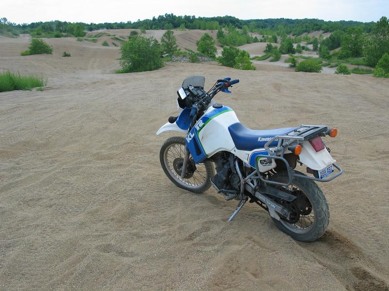 KLR650 in the Sand Dunes