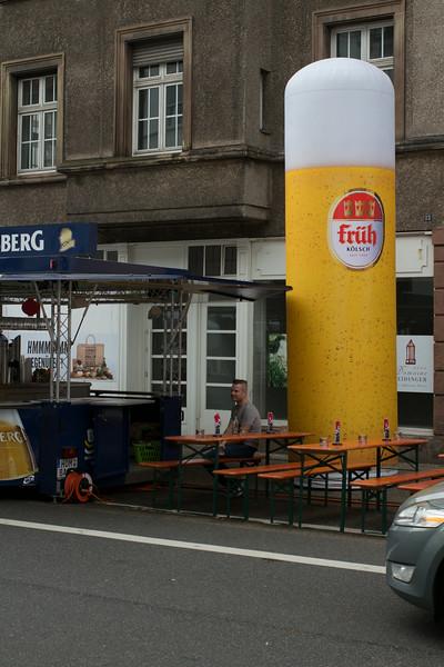 Kölsch in Saarbrücken - angepasste Glasgröße