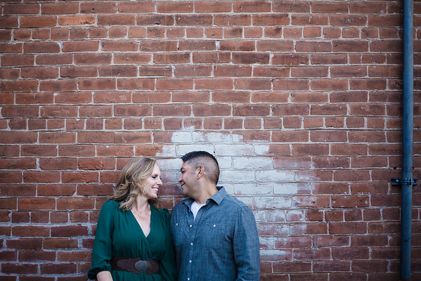 Alesha and Brian | Downtown Flagstaff Engagement