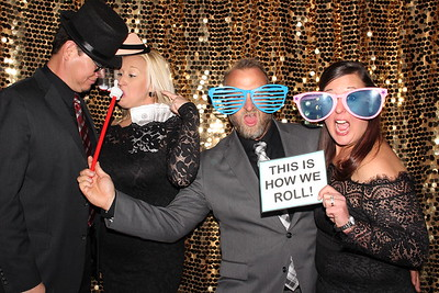 Photo Booth with Gold Backdrop at the Gala