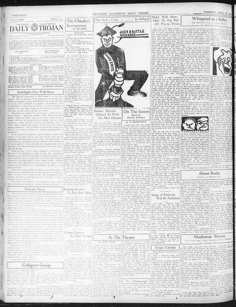 Daily Trojan, Vol. 23, No. 133, April 26, 1932