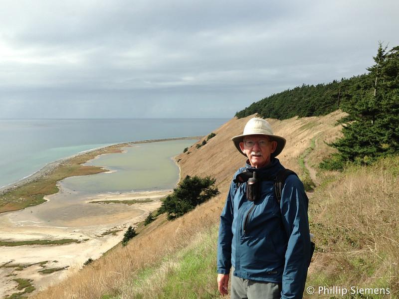 Geocaching hike along the bluffs near Eby's Landing