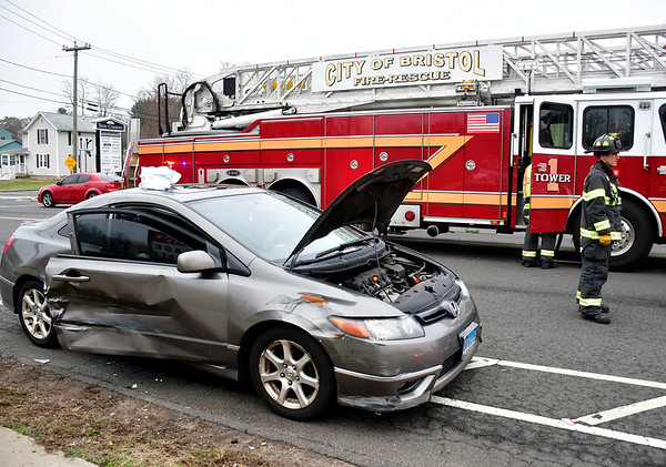 4/9/2019 Mike Orazzi | Staff One person was taken to the hospital on Tuesday after being extricated from a vehicle involved in a car accident. The man was a passenger in a Honda Civic that was involved in a collision with a Dodge Dakota pickup truck shortly after noon, at the intersection of Pine and Mitchell streets.