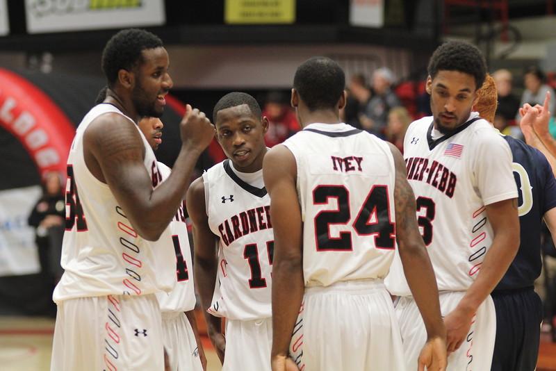 On Friday evening Gardner-Webb's men's basketball team beat Toccoa Falls College 100-61.