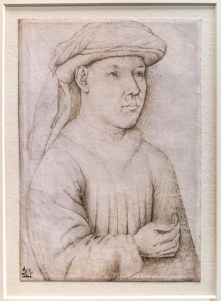 Jan van Eyck (Nachfolger): Brustbild eines jungen Mannes [um 1450, Kupferstichkabinett Berlin]