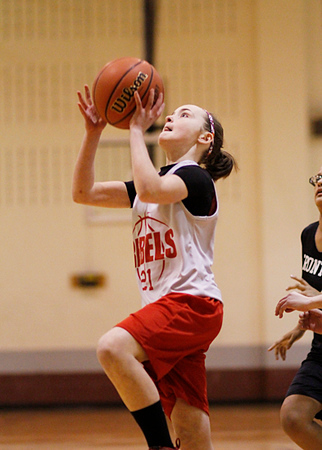SNMS Girls Basketball 7-8 vs Frontier 2013
