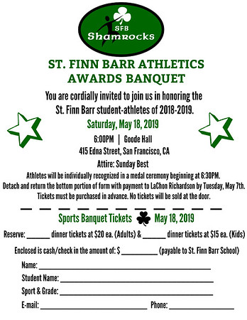SFB Athletics: Awards Banquet
