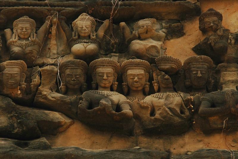 Male and Female Engravings at Banteay Samre - Angkor, Cambodia
