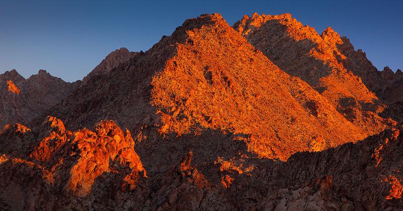 Joshua Tree Coxcomb Mountains Alpen Glow