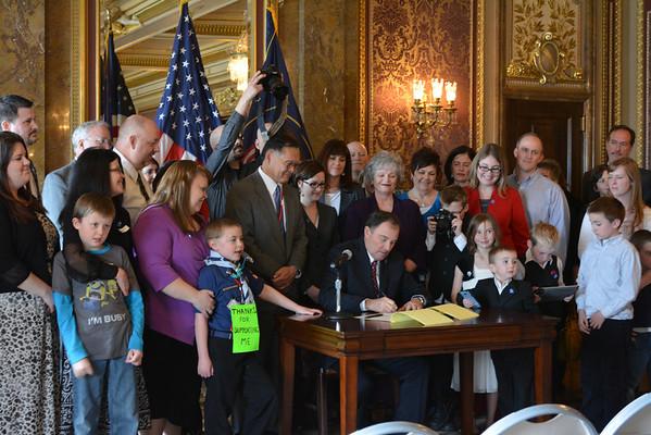 Utah Autism Insurance Bill Signing