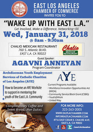 WAKE UP WITH EAST L.A. BREAKFAST MIXER - 01.31.18
