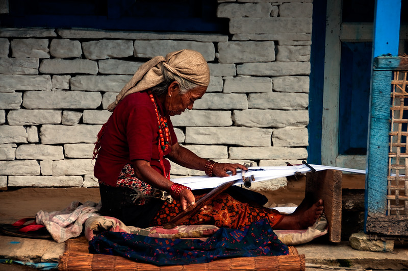 Weaver, Annapurna Region, Nepal