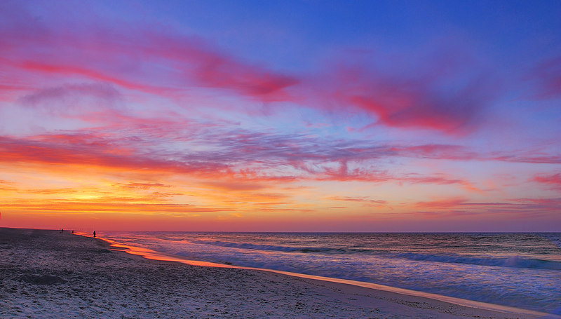 Sunrise on Pensacola Beach  Nikon D80 w/18-200 VR at 18mm (f11, 1/5 sec, ISO 100) w/tripod