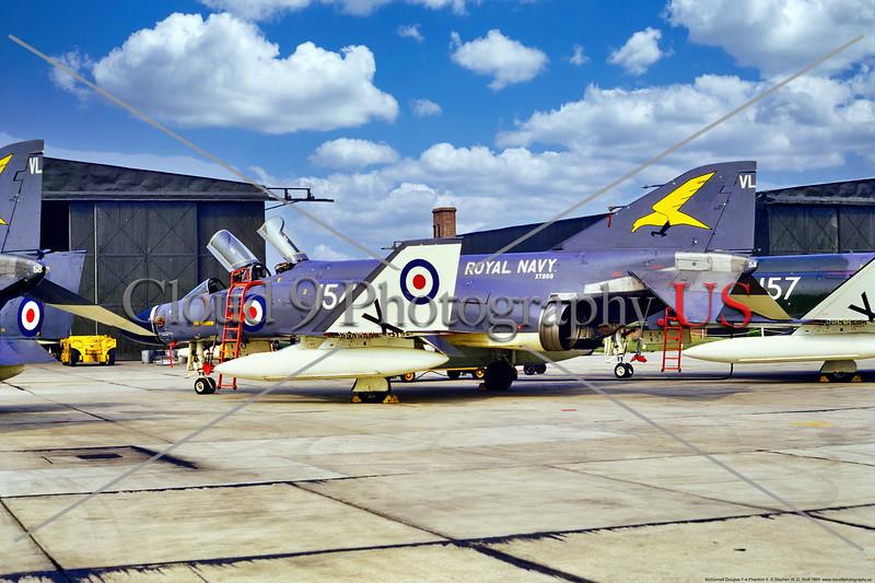 F-4-British 002 A static McDonnell Douglas FG.1 Phantom II British Royal Navy Sqd 767, XT869, 6-1969 Yeoviton, military airplane picture by Stephen W. D. Wolf     853_8016     Dt.JPG