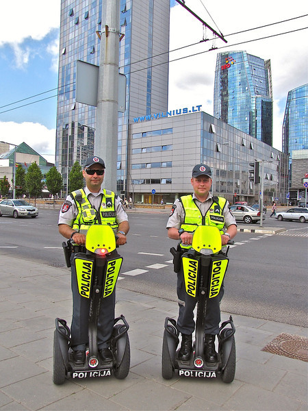 segway into the modern city of Vilnius
