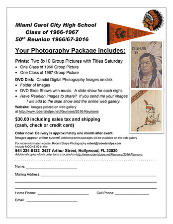 FORMS August 2016 Miami Carol City High School 1966/1967 50th Reunion