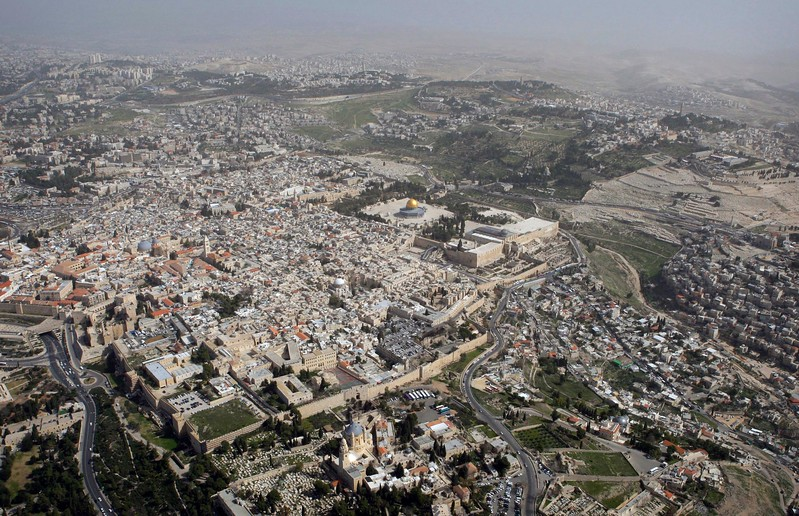 Aerial view of Jerusalem's Old City (not my photo)