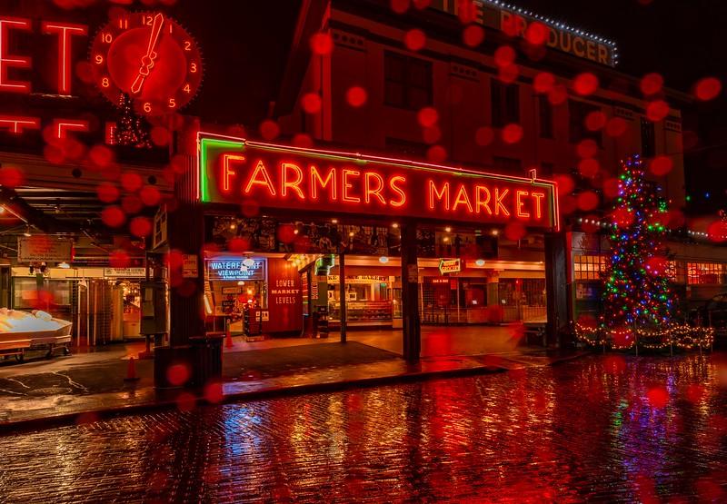 Rainy Night at the Market