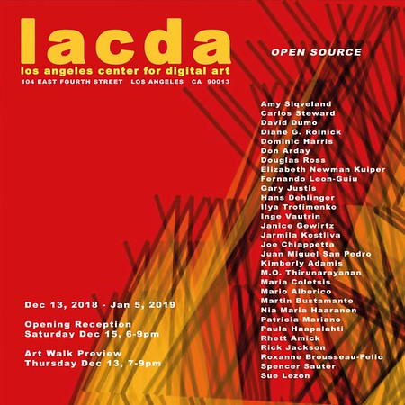 "11.12.2018 - ""Electron Salon"" at LACDA"