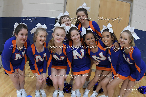 Cheerleaders at Ridgeland game  5 Dec 2017