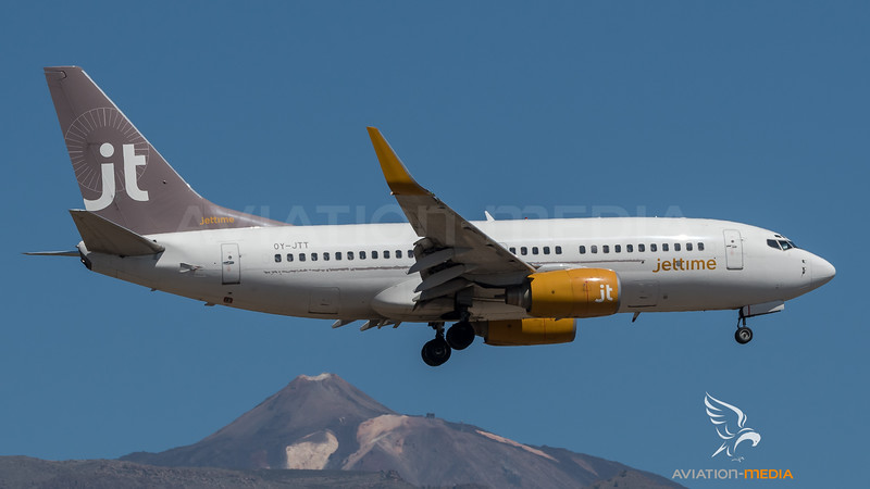 Jettime / Boeing B737-73S / OY-JTT