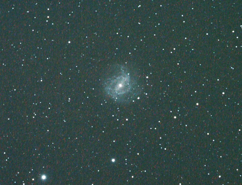 Messier M83 - NGC5236 - Southern Pinwheel Galaxy - 3/4/2011 (Processed cropped stack)  DeepSkyStacker 3.3.2 Stacked 80% of 18 Images ISO 800 180 Sec, 2 DARK, 0 BIAS, 0 FLATS, Post-processed by Photoshop CS4  Telescope - Apogee OrthoStar LOMO 80/480 with Hotech SCA Field Flattener, Hutech IDAS LPS-P2 filter, Canon 400D DSLR, Ambient xxC not noted. Mount - Skywatcher NEQ6 Pro. Guidescope - Orion ShortTube 80 with Star Shoot Auto Guider.