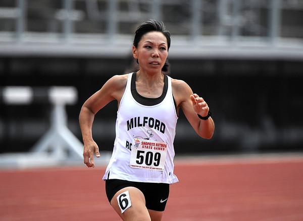 7/14/2018 Mike Orazzi | Staff Mitsuko Washington at the Nutmeg State Games held at Veterans Memorial Stadium in New Britain Saturday.