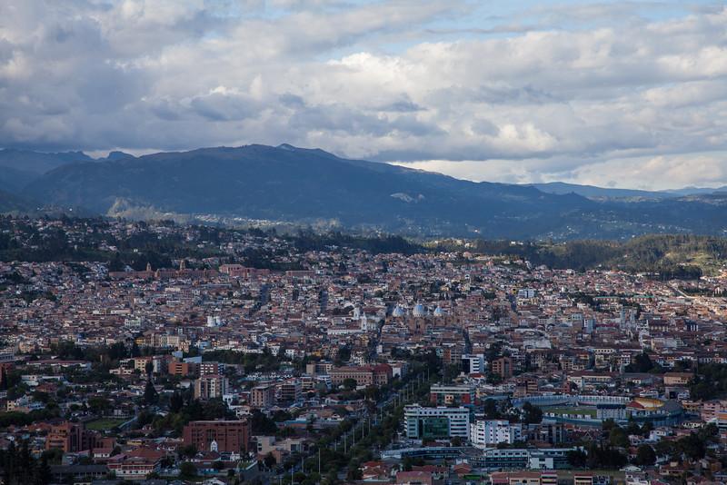 A view of Cuenca from Midador de Turi.