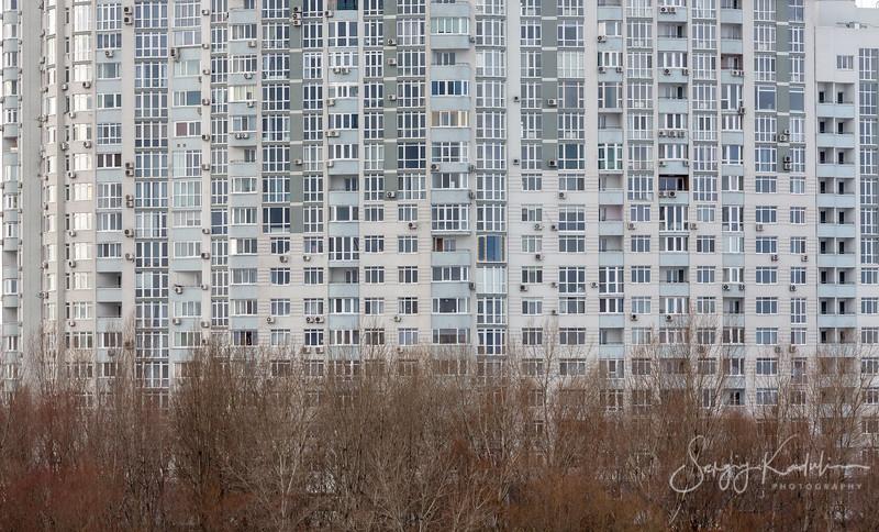 Texture of modern city