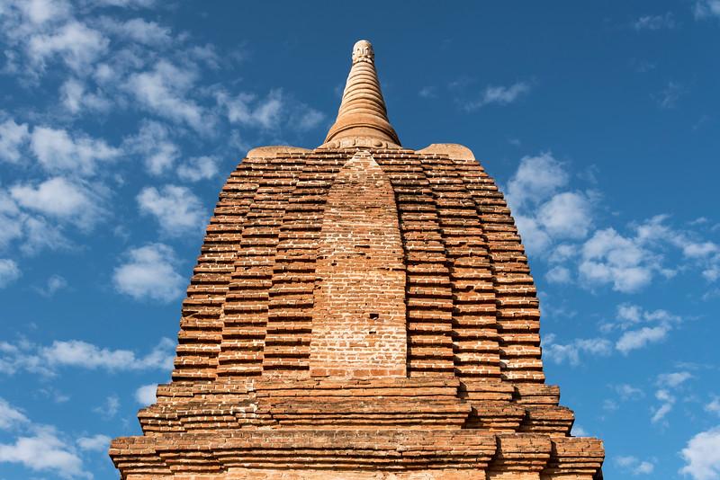 Close-up of stupa, Bagan