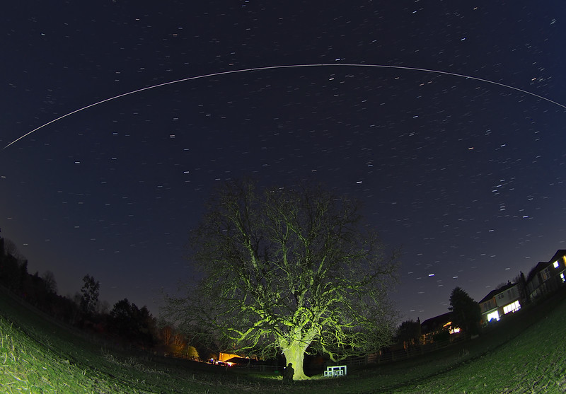 ISS flies over UK