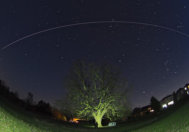 ISS flies over UK