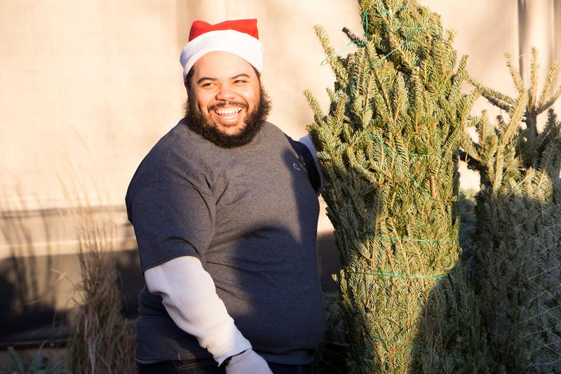Foxboro, MA - Kyle Van Noy Christmas Tree Giveaway