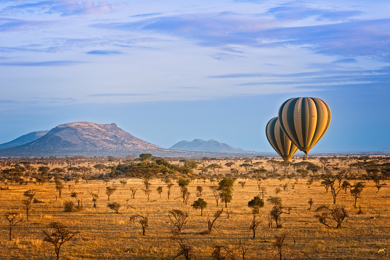 Balloon safari over Serengeti - www.rajguptaphotography.com