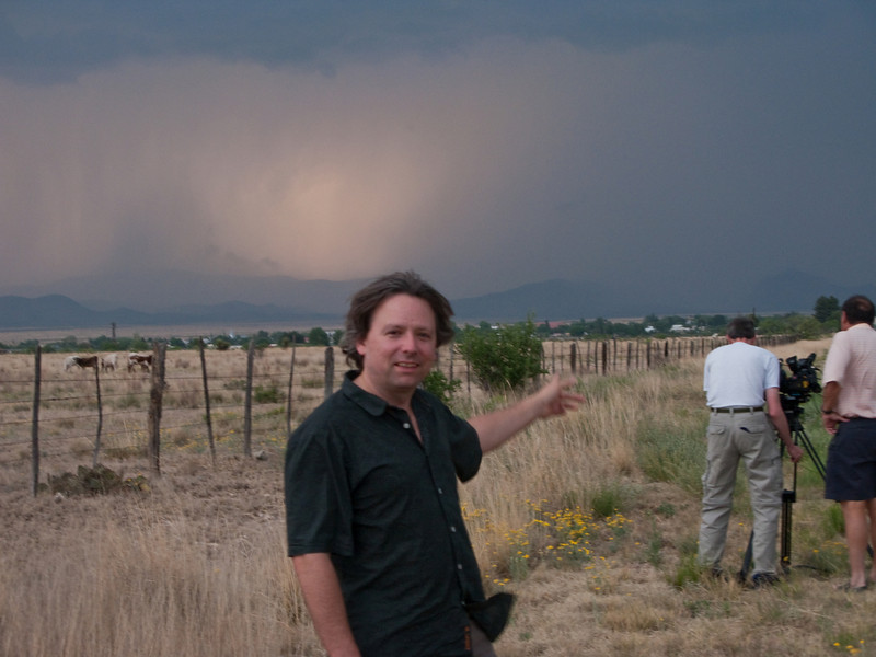 5/10/2009 - Roger Pointing towards the supercell (town of Marathon is in the distance)