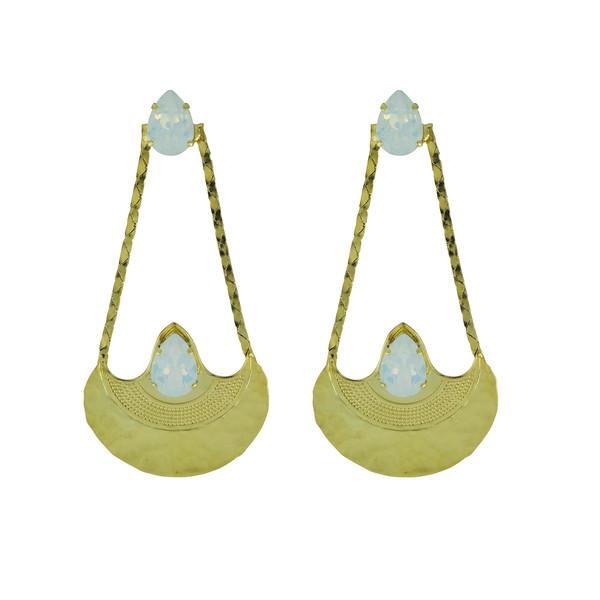 Narkissa Earrings / White Opal