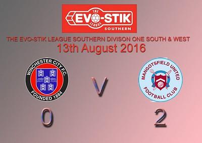 Winchester City (0) v Mangotsfield United (2) 13.8.2016